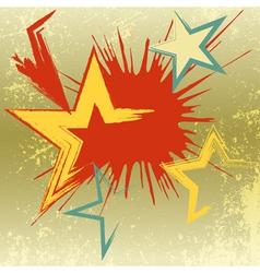 Grunge background of explosion star vector