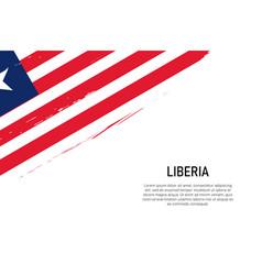 grunge styled brush stroke background with flag vector image