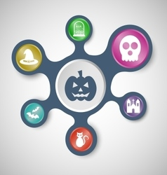 Halloween infographic templates with connected vector