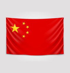 Hanging flag of china people republic of china vector