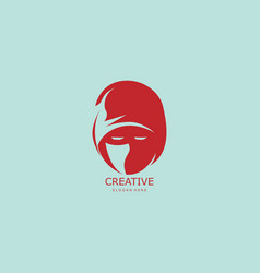 head ninja abstract logo vector image