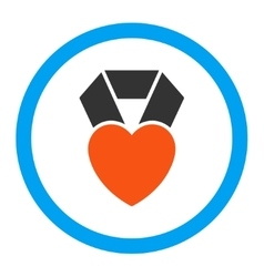 Heart Award Rounded Icon vector image