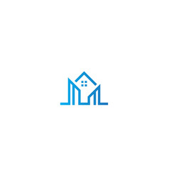 home building realty company logo vector image