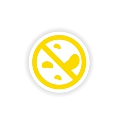 Icon sticker realistic design on paper germs vector