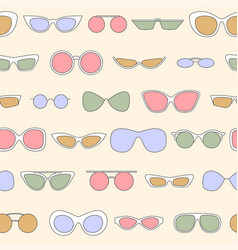 Linear eyewear seamless pattern various trendy vector