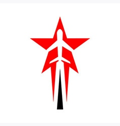 Logo Plane Star Holiday vector