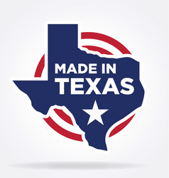 Made in texas logo 01 vector