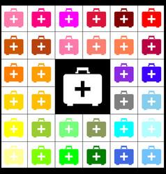 medical first aid box sign felt-pen 33 vector image