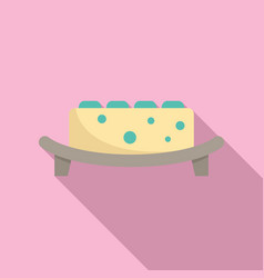 Molecular cuisine dish icon flat style vector