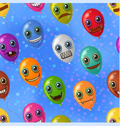 monster balloons seamless vector image