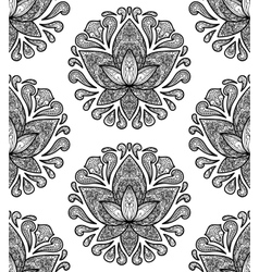 Ornamental Lotus Seamless Pattern vector image
