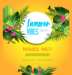 Party yellow poster vector