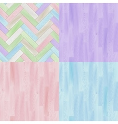 Pastel colored realistic wooden floor parquet vector image