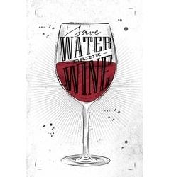 Poster drink wine vector image