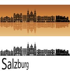 Salzburg skyline in orange vector image