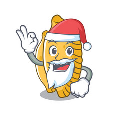 Santa pastel mascot cartoon style vector