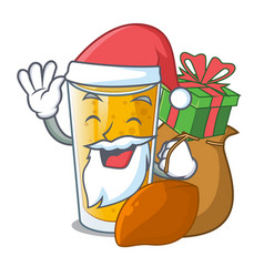 Santa with gift lassi mango in the character vector