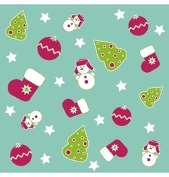 Seamless Christmas icons vector image