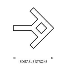 Shaped arrow linear icon navigation arrowhead vector