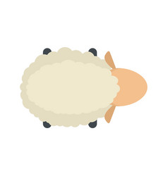 sheep air view icon flat style vector image