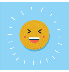 smiley happy face vector image