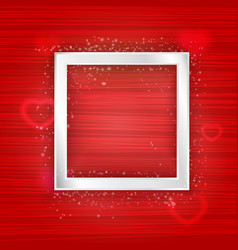 Square silver frame with lights effect and vector