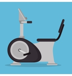 Static bike gym fitness icon vector