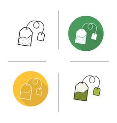 Tea bag icon vector