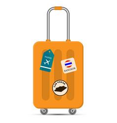 travel bag on white background flat design vector image