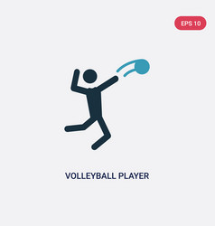 two color volleyball player icon from user vector image
