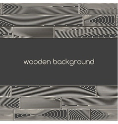 Two seamless linear wooden plank borders vector