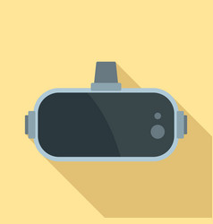 Virtual reality glasses icon flat style vector