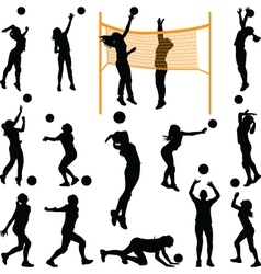 volleyball woman player vector image