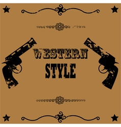 Western style background vector image vector image