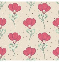 beige spring or summer seamless pattern vector image