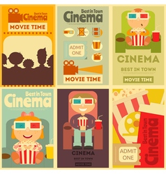 Cinema posters vector