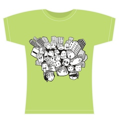 doodle for t-shirt vector image vector image