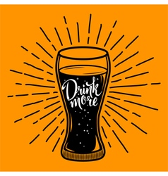 Retro with glass of beverage vector image