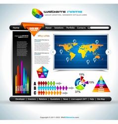 website infographics vector image vector image