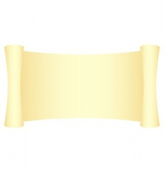 yellow scroll vector image vector image
