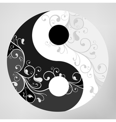 Yin yang pattern symbol vector