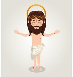 ascension jesus christ crown desing vector image vector image