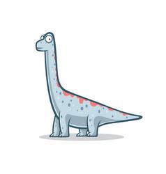cartoon funny brachiosaurus vector image