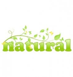 eco natural vector image vector image