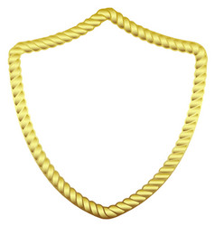 Gold frame in the form of a rope vector