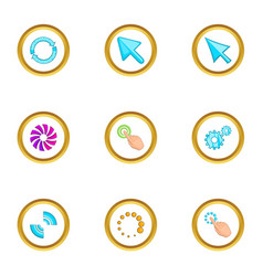 hand pointer icons set cartoon style vector image vector image