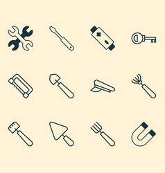 instrument icons set collection of harrow vector image vector image