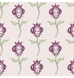pink spring or summer seamless pattern vector image