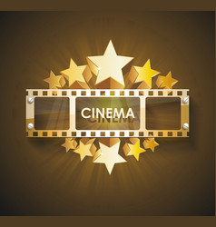 the retro cinema scoreboard with a film and vector image vector image