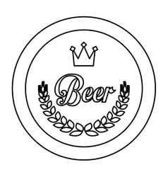 Contour beer related emblem icon image vector